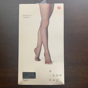 A New Day Fashion Tights Black Fishnet L/XL